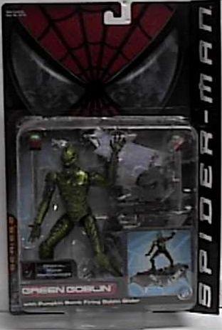 Spider-Man Green Goblin Action Figure with Pumpkin Bomb Firing Goblin Glider by Toy Biz