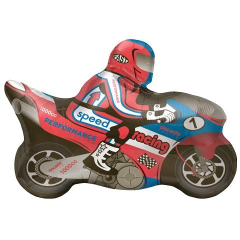 Speed Racing Motorcycle Racer Shape 32 Mylar Foil Balloon