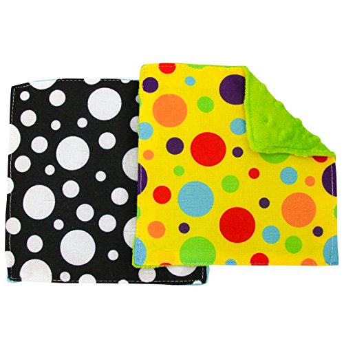 STS 598701 Baby Crinkle Square Sensory Toys - 6 Inch x 6 Inch Assorted 2 Pack
