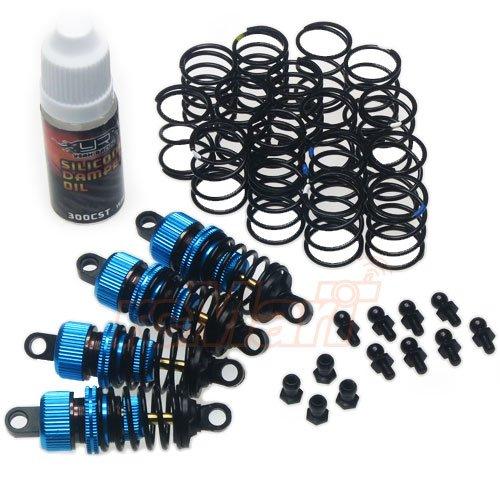 Yeah Racing Shock-Gear 50mm Damper Set for 110 RC Touring Car Blue