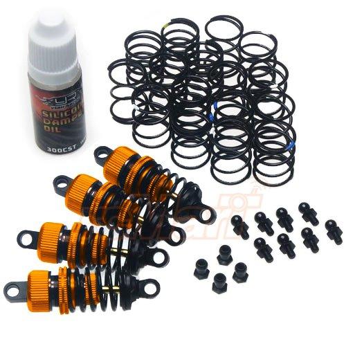 Yeah Racing Shock-Gear 55mm Damper Set for 110 RC Touring Car Orange DSG-0055OR