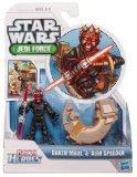 Playskool Heroes Star Wars Jedi Force Figure Darth Maul with Sith Speeder