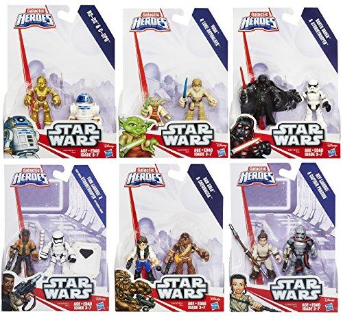 Set of 12 Playskool Star Wars Galactic Heroes Mini Figures