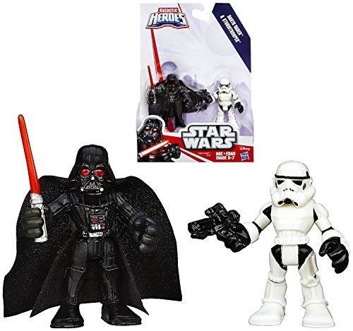 Star Wars Playskool Galactic Heroes Darth Vader Stormtrooper Figures 2015
