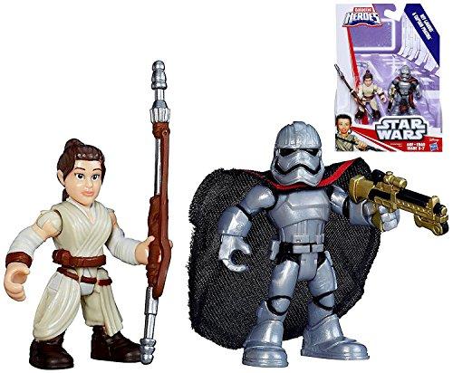 Star Wars Playskool Galactic Heroes Rey Captain Phasma Figures IN STOCK