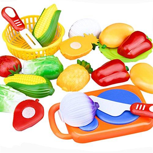 Tuscom 12PC Cutting Fruit Vegetable Pretend Play Children Kid Educational Toy