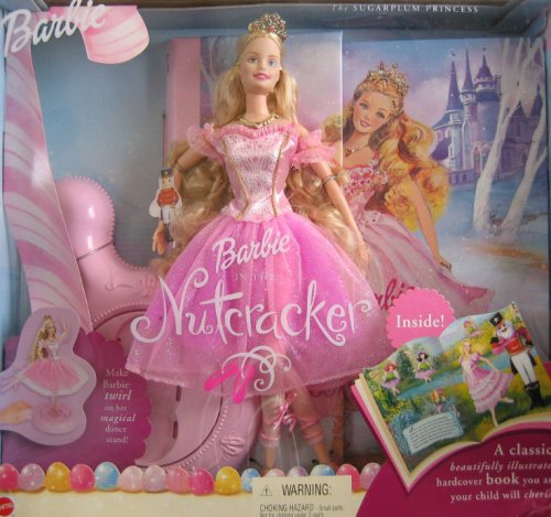 Barbie NUTCRACKER SUGARPLUM PRINCESS Doll Book Giftset 2001