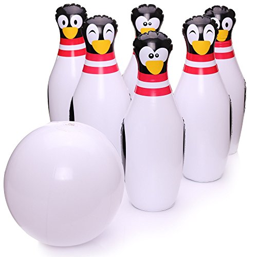 Inflatable Bowling Set Cute Penguins Snowball Indoor and Outdoor Kids Toy Game Fun for the whole Family