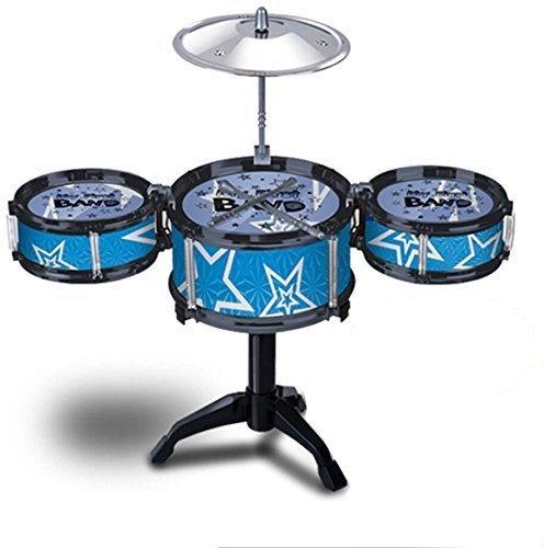 Micord Kids Jazz Drum Rock Set Birthday Gift Music Educational Toy Blue
