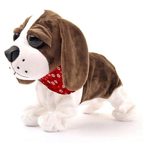 Interactive Animated Walking Pet Electronic Dog Plush Sound Control Toy Puppy - Barks Sits Walks