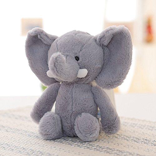 Lanlan 1PCS Soft Cute Cartoon Stuffed Animals Toy Plush Toy for Kids Birthday Christmas Gift Grey Elephant 10 Inch Plush Interactive Toys Accessories