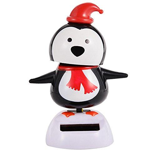 Lanlan 1 PCS Solar Powered Dancing Christmas Toy Car Decoration Home Office Gift Penguin