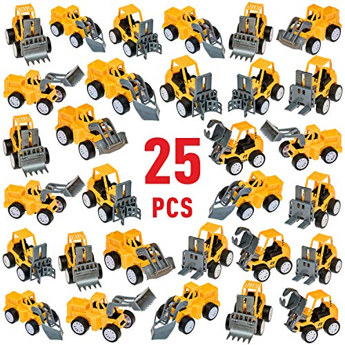 Pull Back Construction Vehicles Toy Set Christmas Stocking Stuffers - Assortment - Cars and Trucks - Toys for kids Birthday Party Favors - Car Vehicle Truck for Boys Toddlers