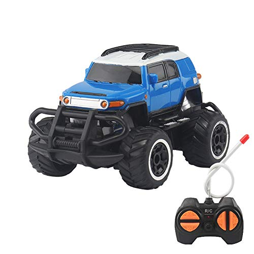 Insaneness Xmas Toys Big Wheel Drift Speed Remote Control Truck RC Off-Road Vehicle Kids Car Toy Blue