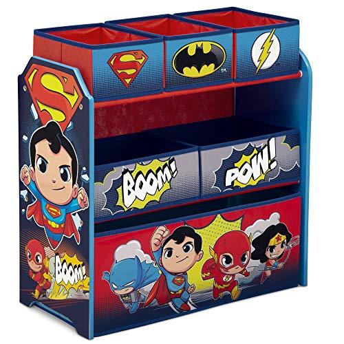 Delta Children 6-Bin Toy Storage Organizer DC Super Friends  Batman  Robin  Superman  Wonder Woman  The Flash