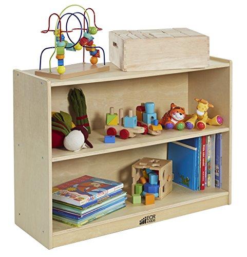 ECR4Kids 2-Shelf Storage Cabinet with Back GREENGUARD Gold Certified Kids Furniture Wood Bookshelf Organizer for Kids Childrens Toy Storage Organizer