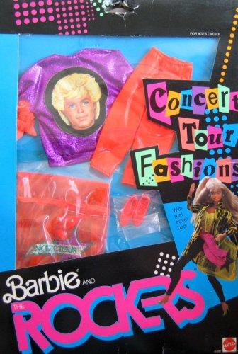 Barbie The Rockers CONCERT TOUR FASHIONS Purple Orange FASHION Outfit 1986