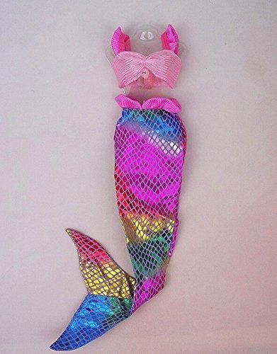 Kangkang Set of 2 115 Dolls Mermaid Dresses Sequin Mermaid Outfit for Barbiebarbie Doll Liv Clothing Mermaid Suits Chloe to Wear