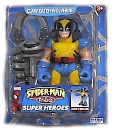 Spider-man Friends Claw Catch Wolverine Action Figure By Toy Biz