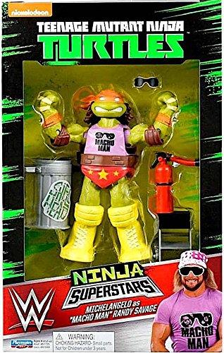 Michelangelo as Macho Man - WWE Teenage Mutant Ninja Turtles TMNT Ninja Superstars Playmates Toy Wrestling Action Figure