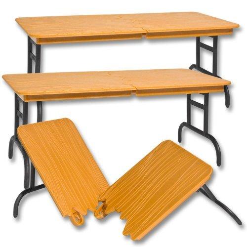 Set of 3 Brown Breakable Tables for WWE Jakks Mattel Wrestling Action Figures