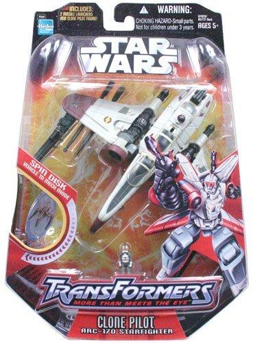 CLONE PILOT  ARC-170 STARFIGHTER 2006 Star Wars Transformers Action Figure