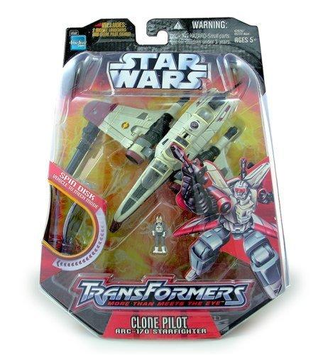 Star Wars Saga 06 Transformers Action Figure Clone Trooper to ARC-170