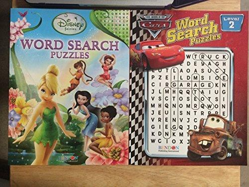 1 Each Disney Fairies Disney Cars Word Search Puzzles