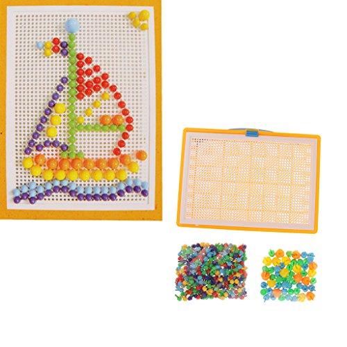 Colorful Mushroom Nails Building Blocks Toy Set Kids Educational Jigsaw Game