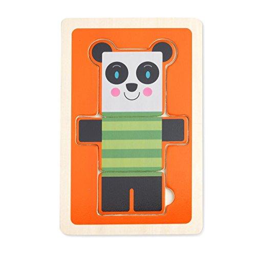 DEMDACO 3 Piece Puzzle Stan Panda Bear