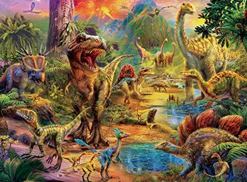 Ceaco Dino Glow in The Dark Dino Landscape Puzzle - 100Piece