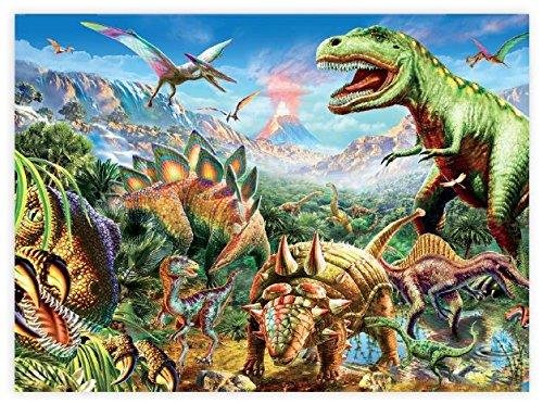 Ceaco Dino Glow in The Dark Dino Party Puzzle 100 Piece