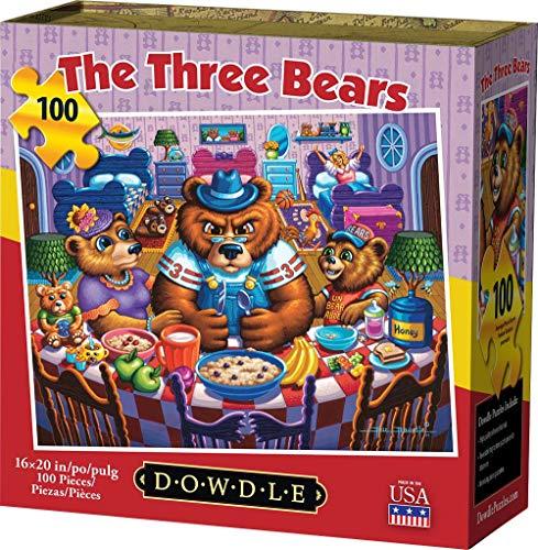 Dowdle Jigsaw Puzzle - The Three Bears - 100 Piece