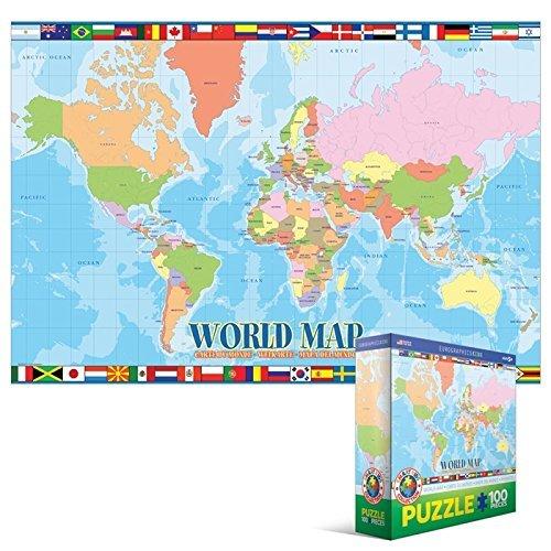 EuroGraphics World Map 100-Piece Puzzle
