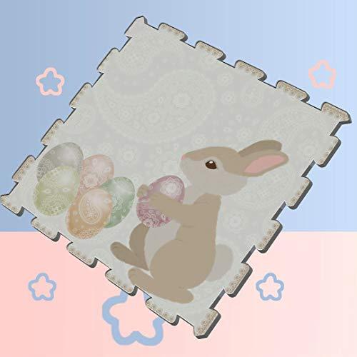 Cute Design Cartoon Snow White Rabbit Bunny Puzzle Play Mats for Toddlers Puzzle Exercise Mat 8 Pieces 60 X 60 X 12cm Foam Puzzle Tiles