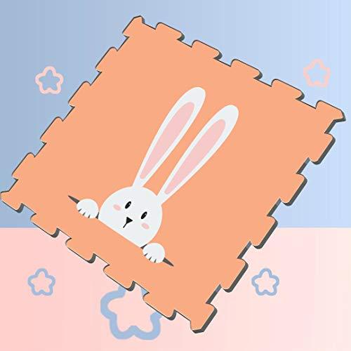 Happy Easter Rabbit Bunny Puzzle Exercise Play Mat Puzzle Mat Play 8 Pieces 60 X 60 X 12cm Foam Puzzle Tiles