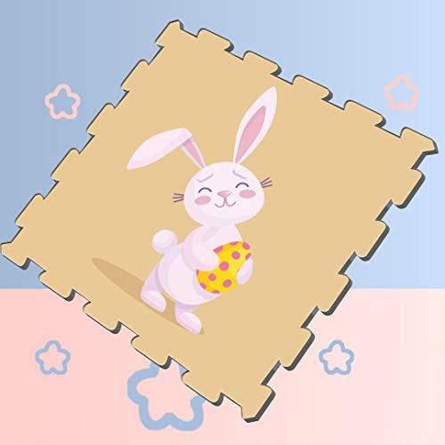 Happy Easter Rabbit Bunny Puzzles Play Mat Play Puzzle Mat Kids 8 Pieces 60 X 60 X 12cm Foam Puzzle Tiles