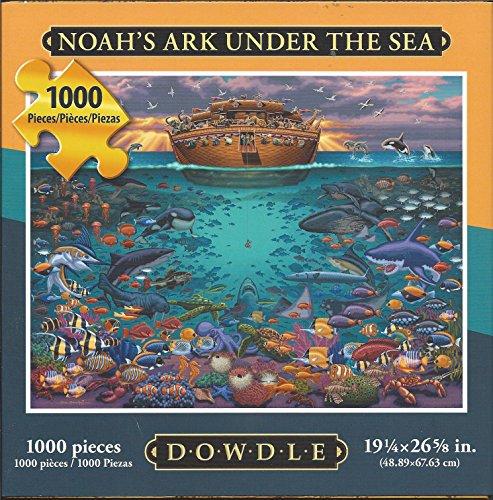 Dowdle Folk Art Puzzle Noahs Ark Under Sea 1000 Pieces NEW 19 ¼ x 26 58