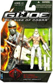 GI Joe The Rise of Cobra Movie Action Figure Storm Shadow Arctic Assault 375 Inch