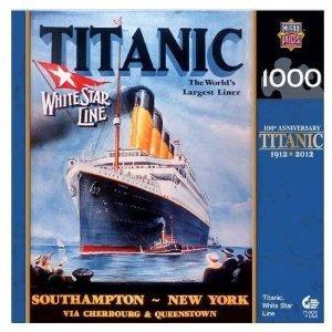 MasterPieces  Commemorative Titanic 1000-Piece Puzzle Titanic White Star Line