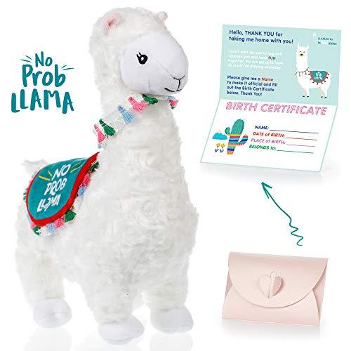 llama stuffed animal - The Original No Prob Llama lama alpaca plush animals toy Perfect Llama gifts for Baby Showers Birthdays Graduation or Christmas Cute Fun Super Soft and Pre Gift Wrapped