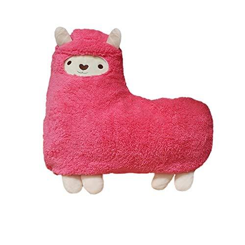 yiqianchen Alpaca Stuffed Animals Soft Plush Llama Alpaca Hug Pillow Cushion Fluffy Doll Kid Sofa Home Plush Toy Pillows Pink Alpaca