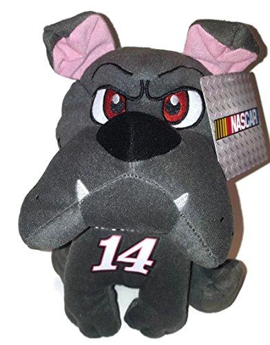 14 Tony Stewart NASCAR 10 inch Gray Bulldog Stuffed Animal Plush Toy