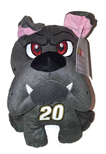 20 Matt Kenseth NASCAR 10 inch Gray Bulldog Stuffed Animal Plush Toy