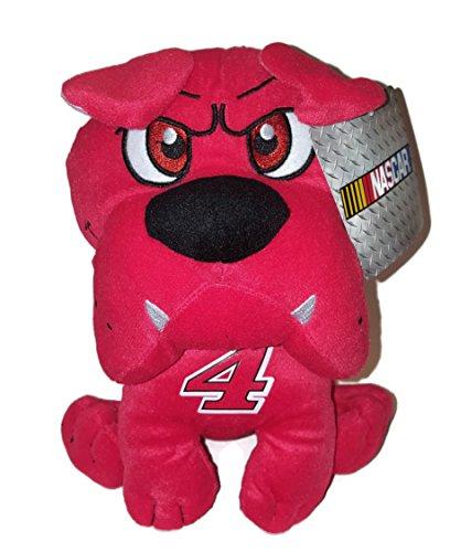 4 Kevin Harvick NASCAR 10 inch Red Bulldog Stuffed Animal Plush Toy