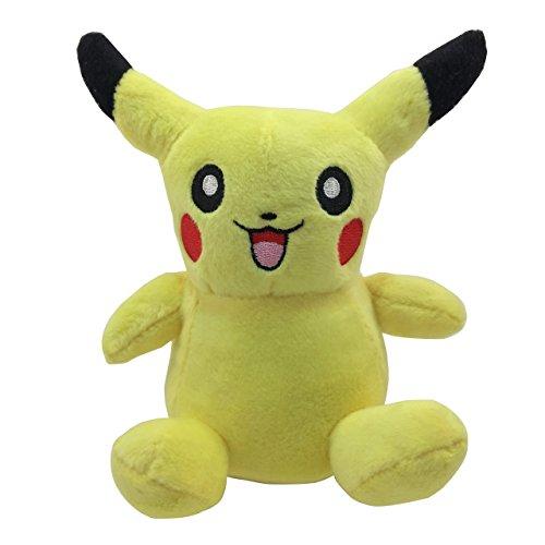 6 Tall Pokemon Pikachu Plush Toy Best Plushie and Stuffed Animal Small Pokemon Plush Toy for BabiesToddlers and Kids Adorable Pokemon Plush Figure Teddy Bear Figurine and Pet