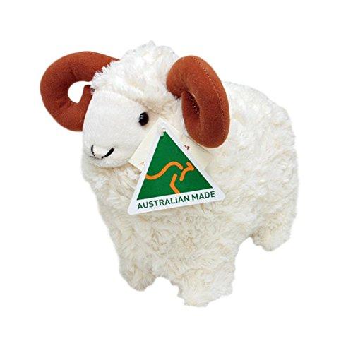 Australian Made Merino RamSheep Stuffed Animal Plush Toy Medium White