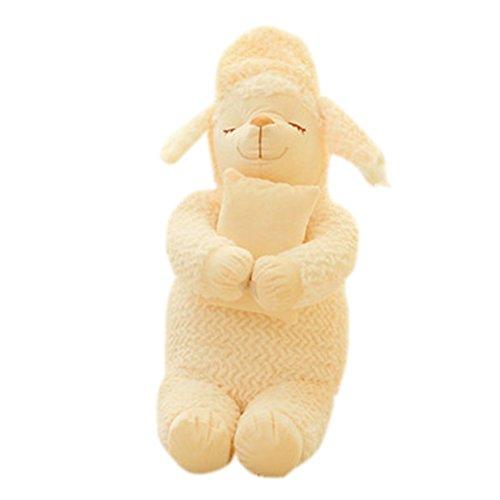 Jutao Lovely Sleep Sheep Plush Stuffed Animal Toy Doll Beige 335