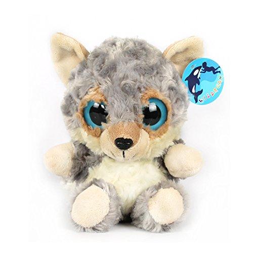 Big Eyes Grey Wolf Stuffed Animal Toys Cuddly Polyester Fabric Jungle Animal Best Gift