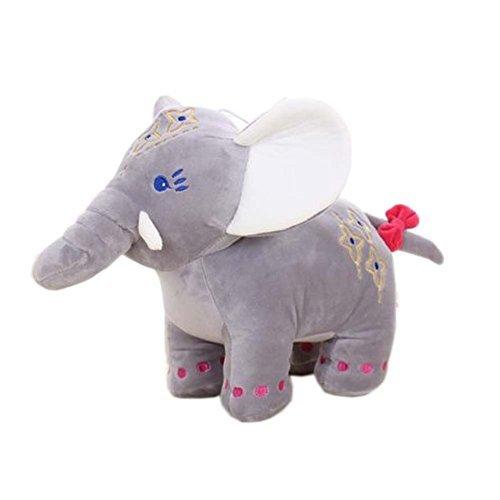 Cute stuffed toy elephant doll stuffed childrens toys gray